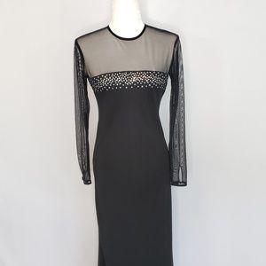 Vintage Chetta B Evening long black Evening Dress